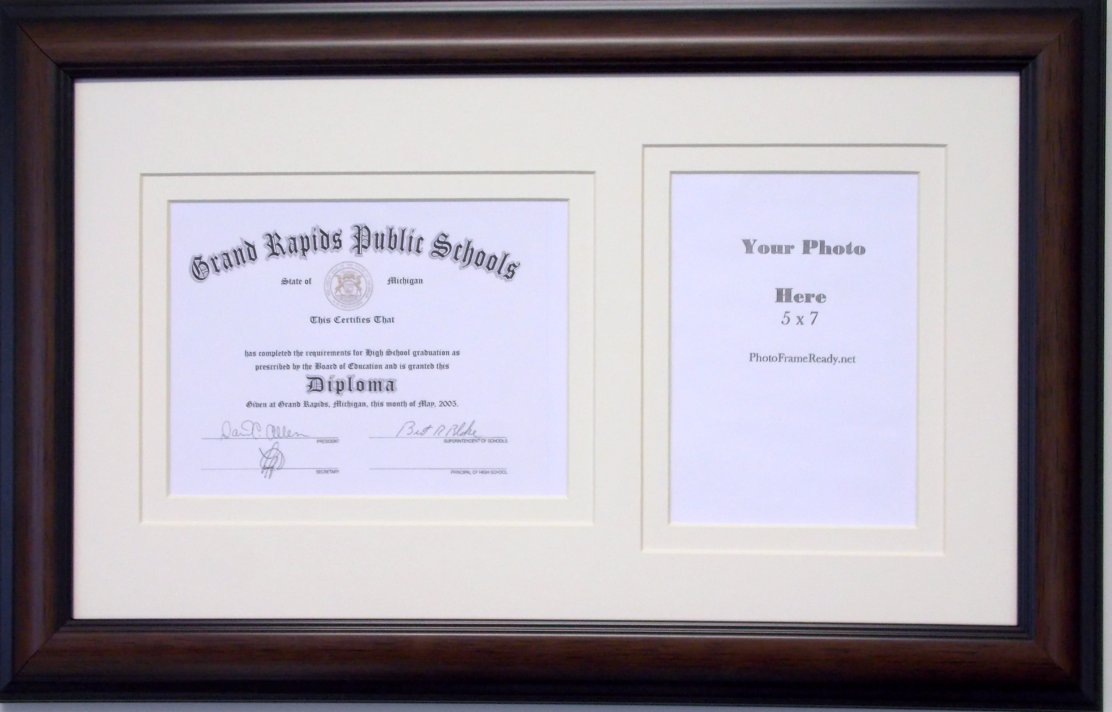 Graduation Diploma Certificate Photo Frame Matted Holds 6 X 8 ...