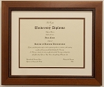 Wall Mount Graduation Diploma University 8.5x11 Certificate Document Frame BROWN Frame