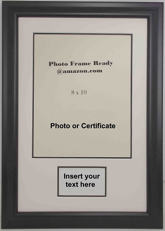Graduation Diploma or Certificate Photo Frame 8x10 with Plaque opening