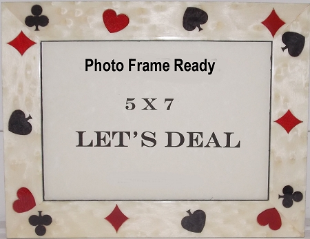Table Top Casino Photo Frame 5x7 Playing Cards Design