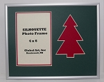 Red Christmas Tree Photo Frame 8x10 for  4x6 photo