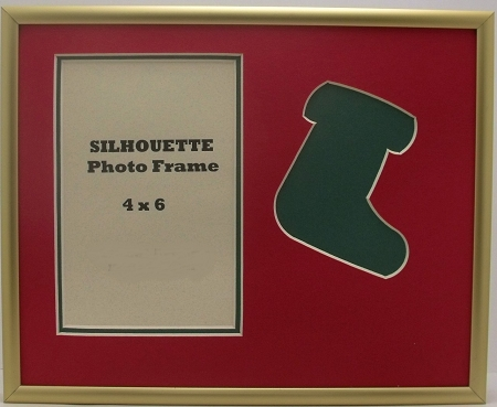 Holiday Green Christmas Stocking Photo Frame 8x10 With 4x6