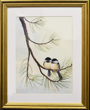 Audubon Chickadee Bird Nature Print Matted 11x14 Wall Decor Wildlife ...