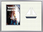 Childrens Nautical Navy Sailboat Beach 8x10 Infant Photo Frame Holds 4x6 Photo