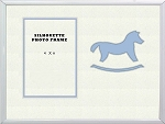Childrens Blue Rocking Horse infant boy Photo Frame 8x10 holds 4x6 photo