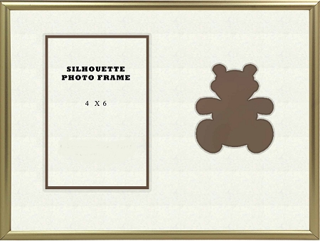 Childrens Brown Teddy Bear Infant Photo Frame 8x10 Hold 4 X 6 Photo