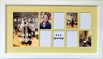 Wall Decor Childrens Nursery Yellow Collage Photo Frame Accessories Unisex 8 Wallet Openings 1 5x7