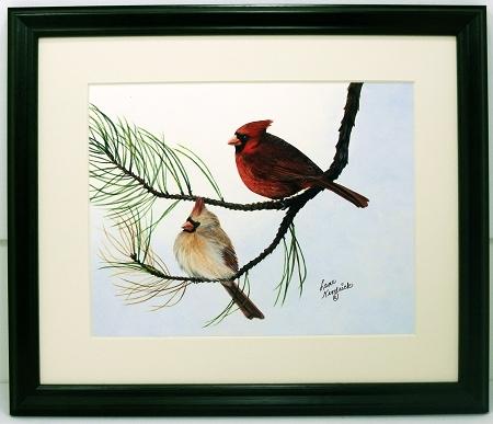 Audubon Cardinal Wildlife Bird Print 10 X 12 Photo Frame