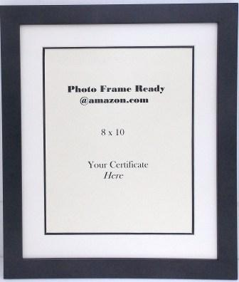Wall Mount Black Wood Photo Frame with 8x10 Opening for Document ...