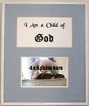 Nursery Children Accessories Christian Child of God Wall Mount Photo Frame 4x6 Photo for Blue Boy