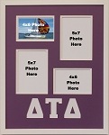 Delta Tau Delta Fraternity 16x20 collage photo mat and wall mount frame for 5x7 and 4x6 photos
