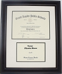 High School Graduation Diploma Creme & Black Certificate 6X8 Photo 4X6 Frame Matted