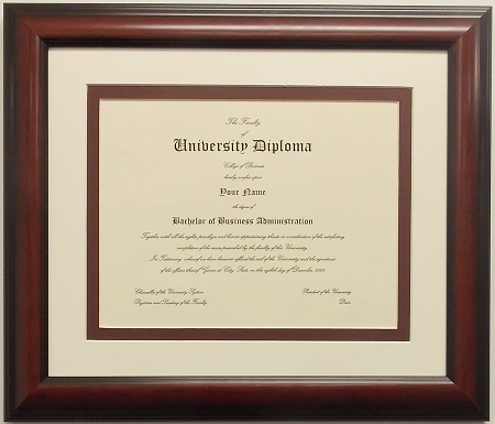 Graduation Diploma College or University 8-1/2 X11 Certificate ...