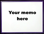 Purple Dry Erase Reminder Board 10.5x13.5
