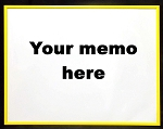 Yellow Dry Erase Reminder Board 10.5x13.5