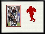 Football Sports League Red Team Photo Black Frame 8x10 Holds 4x6 Photo Creme & Red