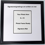 Signature Memory Greeting Mat Framed for 8x10 photo