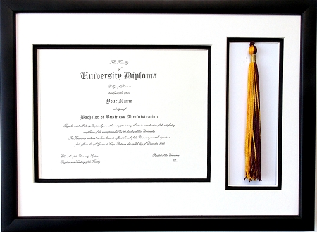 Graduation Diploma Certificate Document 8.5x11 with Tassel opening ...