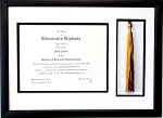 Graduation Diploma Certificate Document 8.5x11 with Tassel opening Black Picture Frame