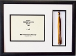 Graduation Diploma Certificate Document 9x7 with Tassel opening Black Picture Frame