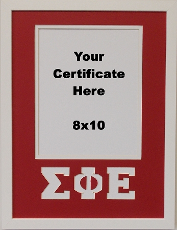 Sigma Phi Epsilon Fraternity Certificate Or Photo Frame