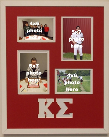 Kappa Sigma Fraternity 16x20 collage photo mat and wall mount frame ...