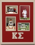 Kappa Sigma Fraternity 16x20 collage photo mat and wall mount frame for 5x7 and 4x6 photos