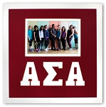 Alpha Sigma Alpha Sorority Friendship Frame holds 4x6 photo wall mount red and white frame