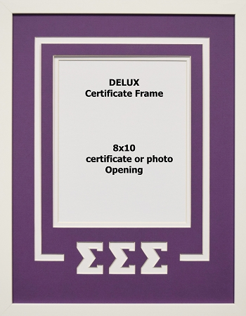 Sigma Sigma Sigma Sorority Delux Wall Mount Frame for 8x10 ...