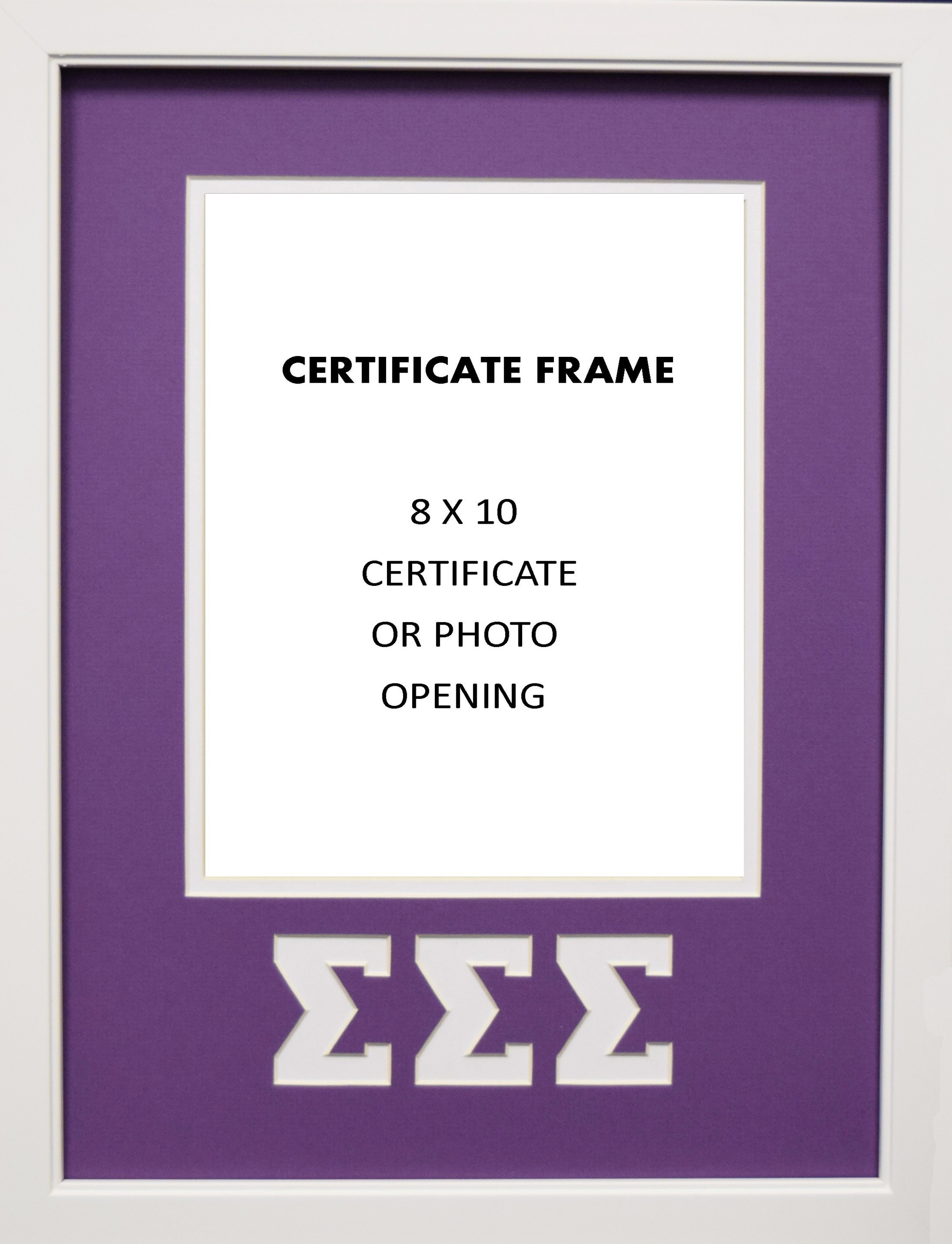 Sigma Sorority certificate or photo frame 8x10 opening wall mount ...