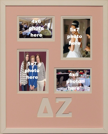 Delta Zeta Sorority 16x20 collage photo mat and wall mount frame for ...