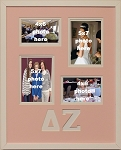 Delta Zeta Sorority 16x20 collage photo mat and wall mount frame for 5x7 and 4x6 photos