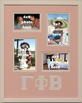 Gamma Phi Beta Sorority 16x20 collage photo mat and wall mount frame for 5x7 and 4x6 photos