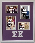 Sigma Kappa Sorority 16x20 collage photo mat and wall mount frame for 5x7 and 4x6 photos