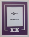 Sigma Kappa Sorority Delux Wall Mount Frame for 8x10 Certificate or Document purple and white