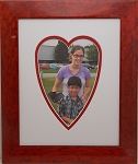 Red Heart 8x10 Photo frame with double mat for 5x7 photo