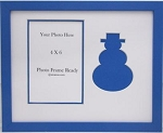 Silhouette Blue Seasonal holiday Snowman Photo Frame 8 X 10 with 4 X 6 Photo