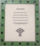 Irish Blessing Shamrock Picture Frame Celtic Wall Decor 8x10