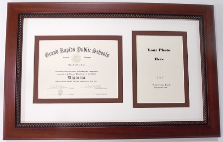 Graduation High School Diploma Certificate 6x8 With 5x7