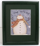 I Love Winter Snowman Framed Decorator Print 8 x 10