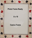 Table Top Casino Photo Frame 8x10 Playing Cards Design