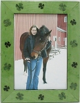 Table Top Photo Frame 5x7 Shamrock pattern green