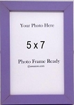 Tabletop Photo Frame Wood 5x7 Purple Violet Childrens Accessories