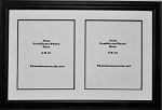 Graduation University Double 8x10 certificates, documents or photo openings frame black and white Collage