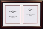 Graduation University Double 8x10 certificates or photo openings frame and matted