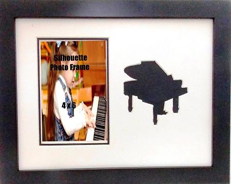 Wall Mount Music Photo Frame 10x13 Black Piano Holds 4x6 Photo Black ...