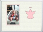 Childrens Christian Pink Angel Infant Girl Photo Frame 8x10 Hold 4x6 Photo