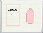 Childrens Pink Baby Bottle Infant Girl Photo Frame 8x10 Hold 4x6 Photo