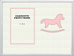 Childrens Pink Rocking Horse Infant Girl Photo Frame 8x10 Hold 4x6 Photo