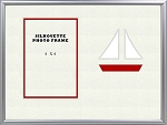 Childrens Nautical Red and White Sailboat Beach Tabletop Photo Frame 8x10 Holds 4x6 Photo